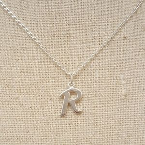 Jewelry - Sterling Silver Letter R Necklace